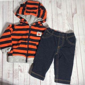 Carter's Infant 6M Fox Hooded Sweatshirt & Pants